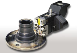 Bearing spindle with eddy current probe for crack testing